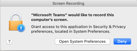 teams permissions mac