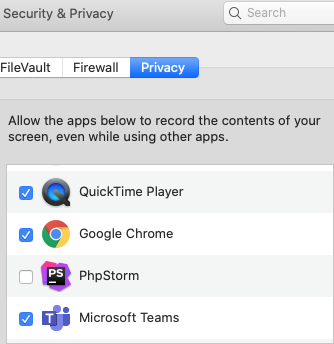 teams permissions mac privacy